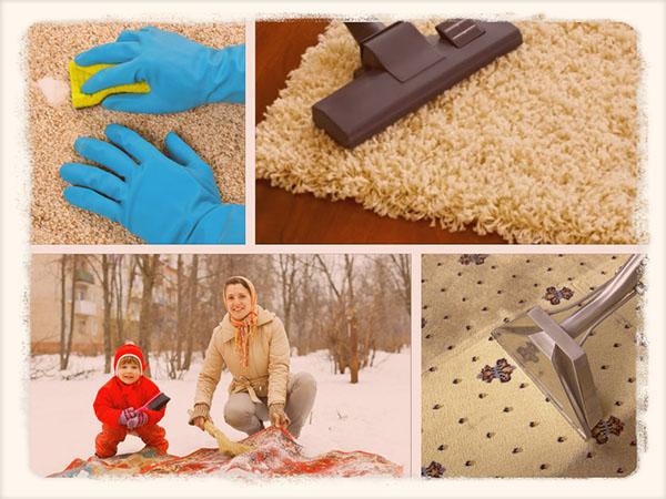 Как почистить ковер дома