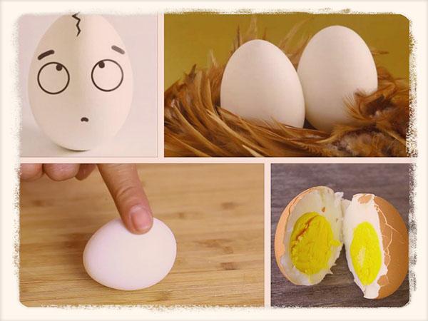 Как отличить вареное яйцо от сырого