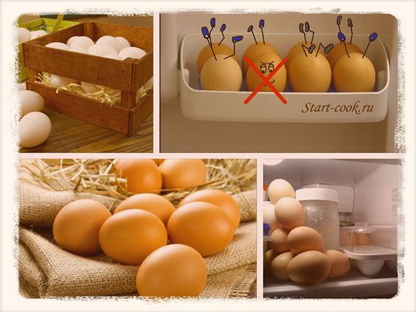 Срок хранения варенных и сырых яиц в холодильнике