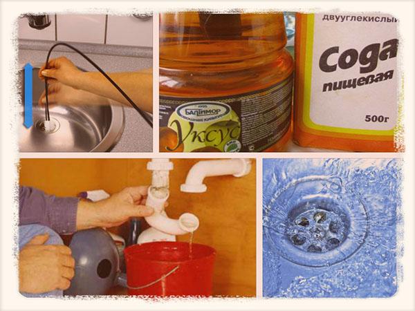 как прочистить засор в раковине на кухне
