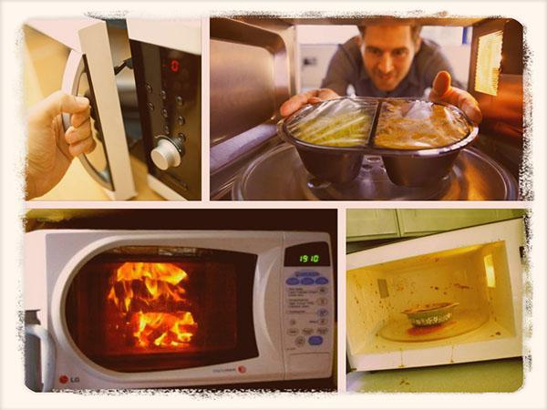 какую посуду нельзя ставить в микроволновую печь