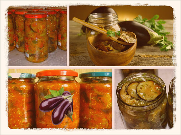 Самые вкусные салаты из баклажанов на зиму