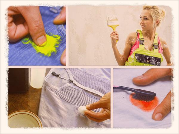 чем оттереть краску с одежды в домашних условиях