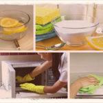 Как почистить  микроволновку внутри от жира