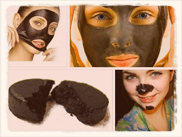 маска с активированным углем против черных точек