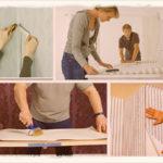 Как клеить бумажные обои