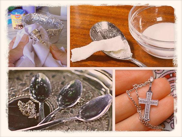 Как и чем почистить серебро в домашних условиях серьги 494