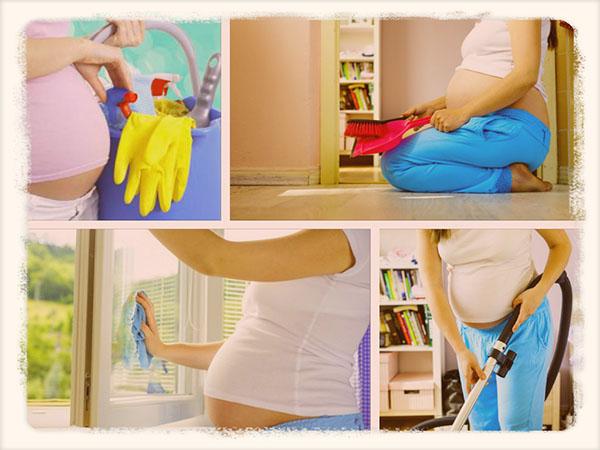 дела по дому во время беременности