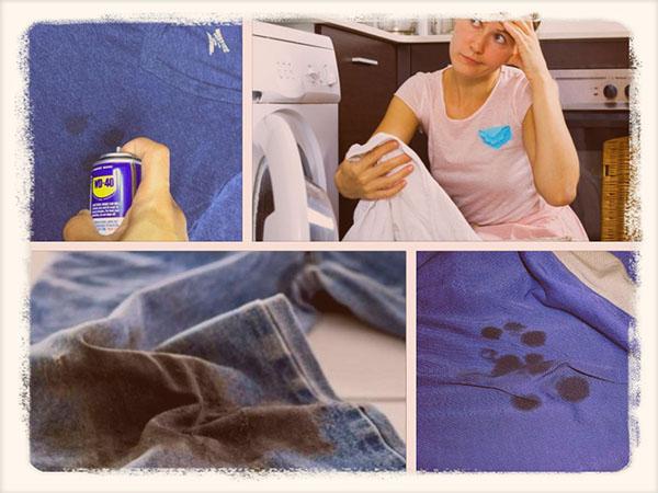 Как вывести пятно на штанах от смолы фото