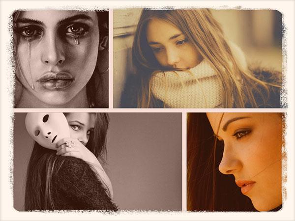 грустные девушки