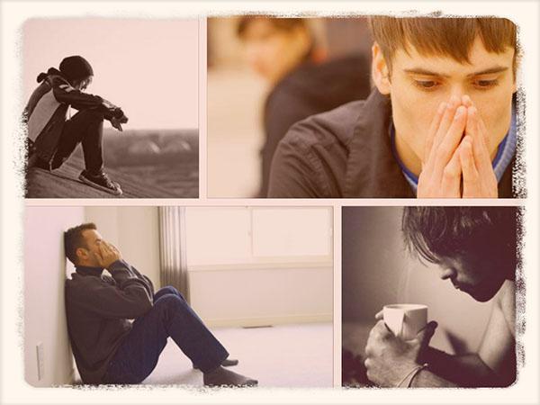 грустные парни в печали