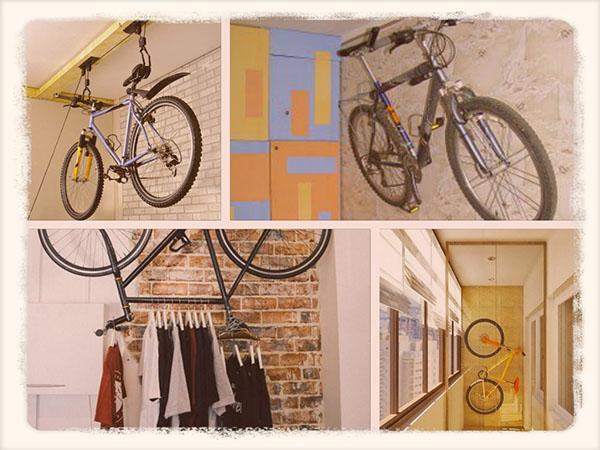 велосипеды хранятся дома