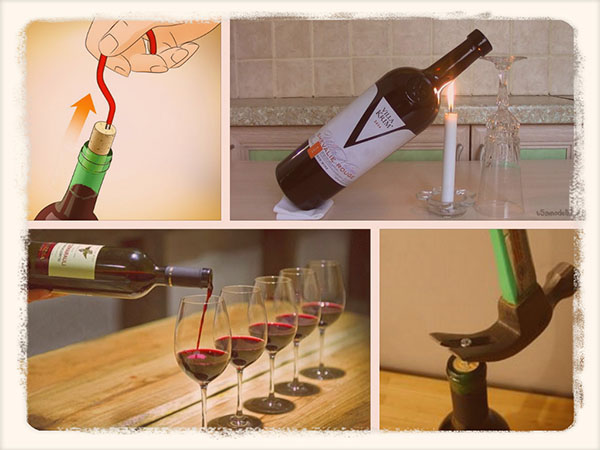 открыть вино