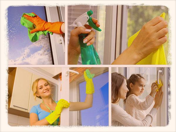 мытье пластиковых окон