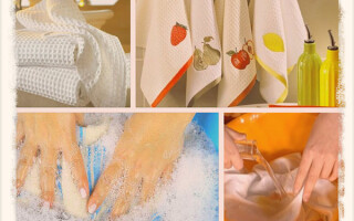 Как отбелить кухонные полотенца: 9 способов