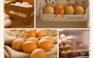 Как правильно и сколько по времени хранить яйца