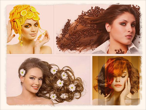 как можно покрасить волосы без краски