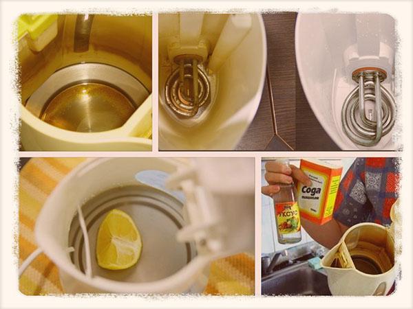 как убрать накипь в электрическом чайнике