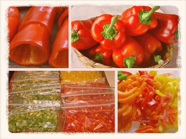 как заморозить перец болгарский на зиму