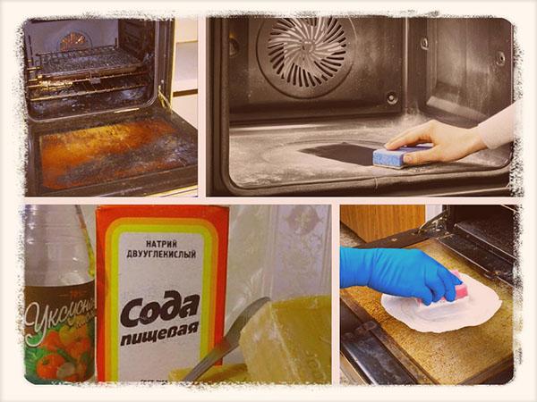 очищение плиты от старого жира