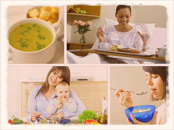 питание мамы после кесарева