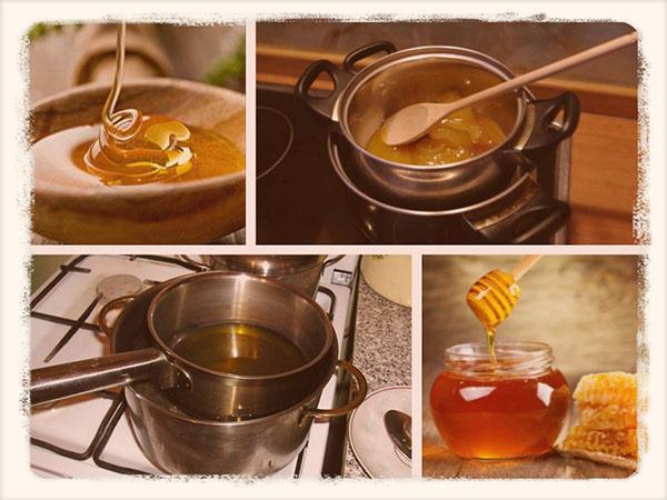 превращение меда в жидкий