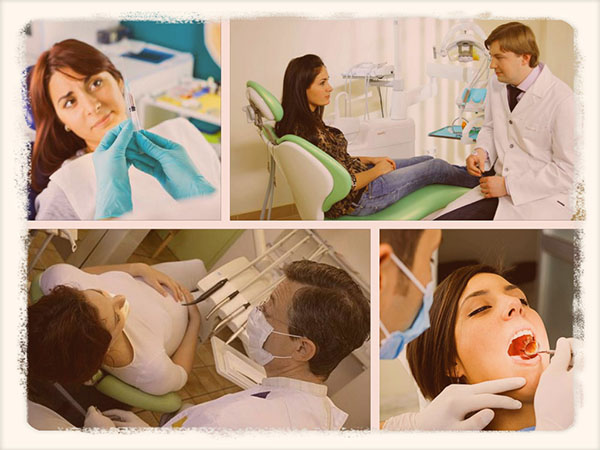 женщина в стоматологическом кресле