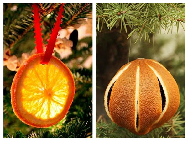 апельсиновая кожура на елке
