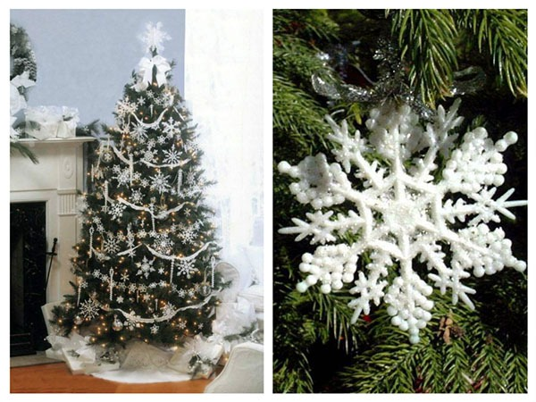 снежинки на елке
